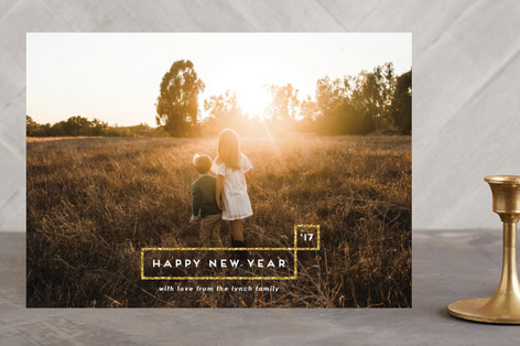 Minimal Aesthetic New Year's Photo Cards