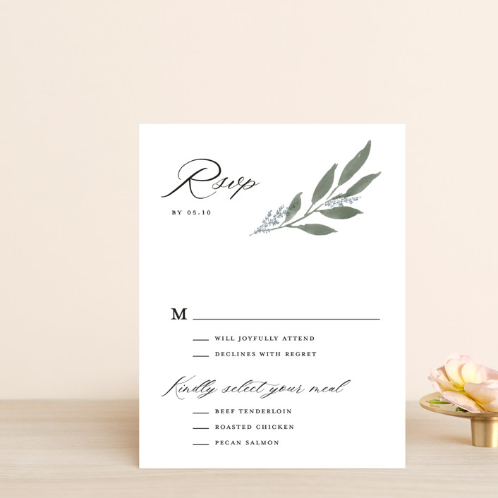 """""""Pressed Foliage"""" - Rsvp Postcards in Heather by Stacey Meacham."""