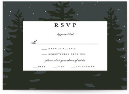 Enchanted Forest RSVP Postcards