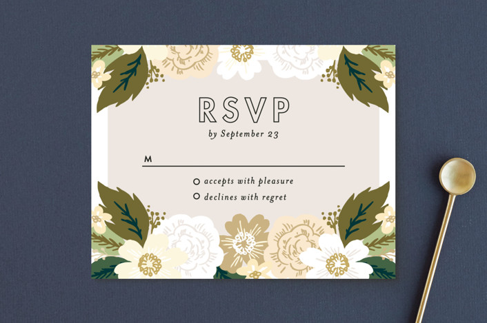 """""""Classic Floral"""" - Rsvp Postcards in Spring Blush by Alethea and Ruth."""