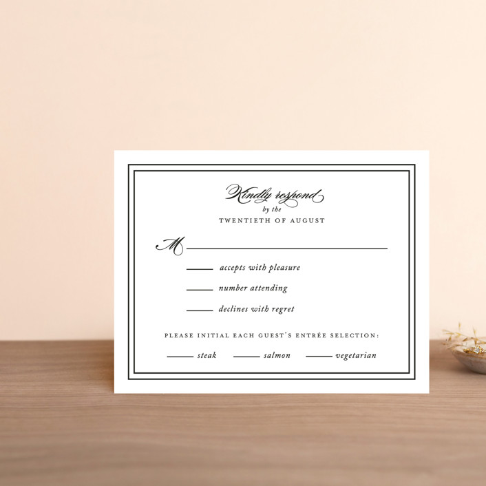 """Eloquence"" - Rsvp Postcards in Vanilla by Kimberly FitzSimons."
