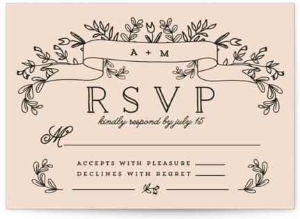 Wedding Bouquet RSVP Postcards
