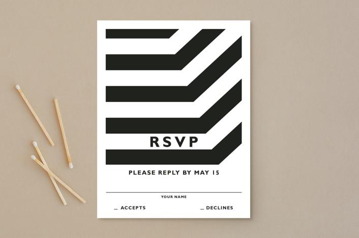 """Desenfadado"" - Rsvp Postcards in Black by Aspacia Kusulas."