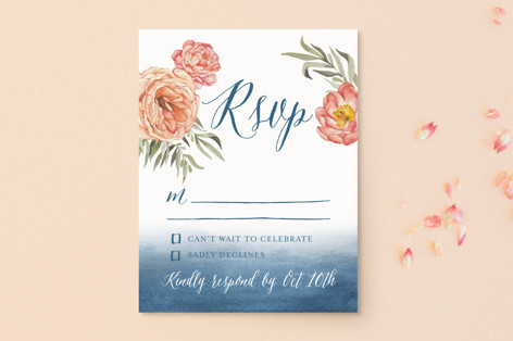 Garden Rose RSVP Postcards