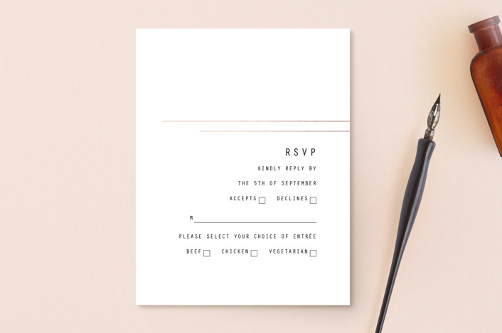 """BOLD AS LOVE"" - Modern Rsvp Postcards in Noir by DESIGN X FIVE."