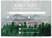This is a blue rsvp postcard by Elly called Adventure Awaits printing on signature in postcard.