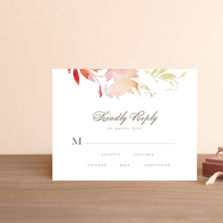 Stately Florals RSVP Postcards