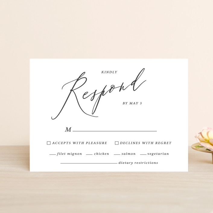 """""""Crescendo"""" - Rsvp Postcards in Snow by Griffinbell Paper Co.."""