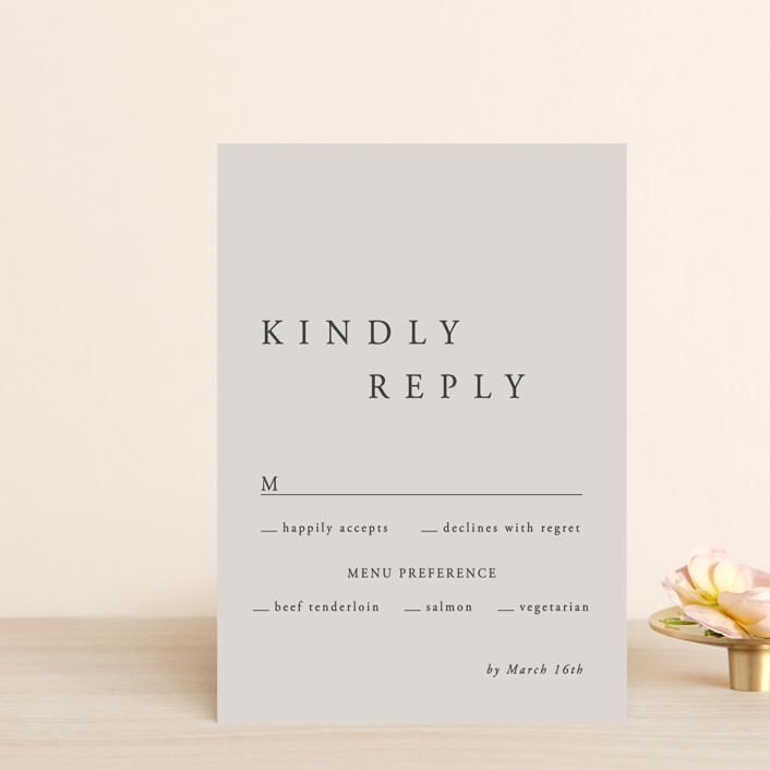 """""""The Minimalist"""" - Rsvp Postcards in Air by lulu and isabelle."""