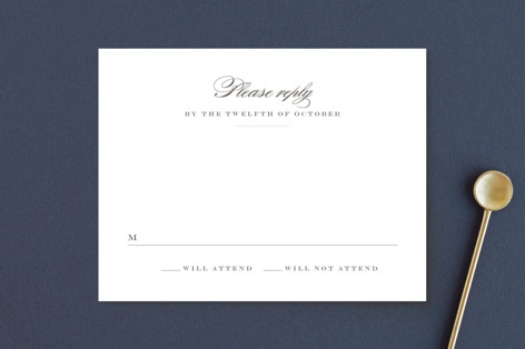 Charming Go Lightly RSVP Postcards