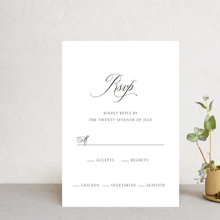 """Legacy"" - Rsvp Postcards in Pure by Design Lotus."