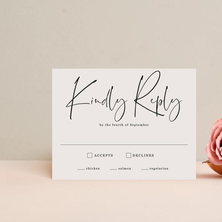 """stylist script"" - Rsvp Postcards in Ivory by Cass Loh."