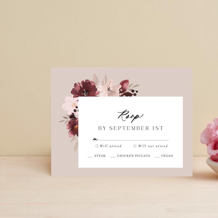 """Emyn"" - Rsvp Postcards in Burgundy by Itsy Belle Studio."