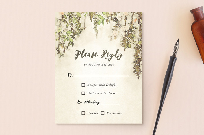 """""""English Countryside"""" - Rsvp Postcards in Moss by Design Lotus."""