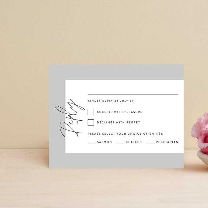 """""""printed"""" - Rsvp Postcards in Onyx by JoAnn Jinks."""