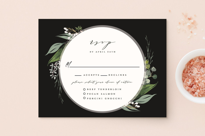 """Natures Greens"" - Rsvp Postcards in Ivory by Susan Moyal."