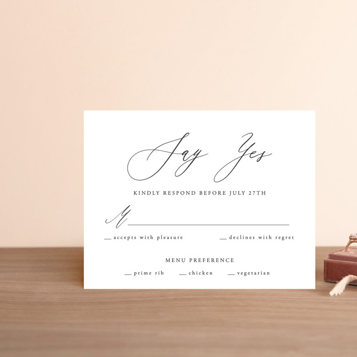 """""""We Do"""" - Rsvp Postcards in Ink by lulu and isabelle."""