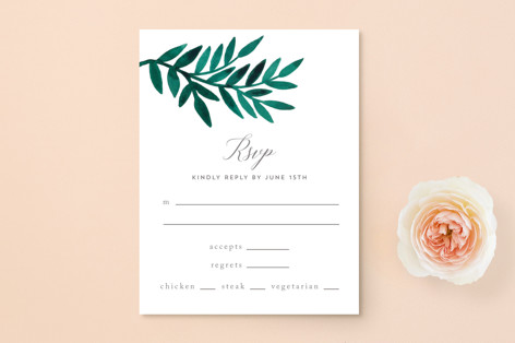 Painted Greenery RSVP Postcards