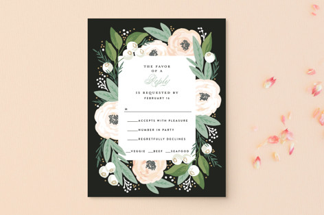 Blooming Bouquet RSVP Postcards