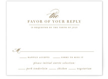 This is a brown rsvp postcard by Jennifer Postorino called divine printing on signature in postcard.