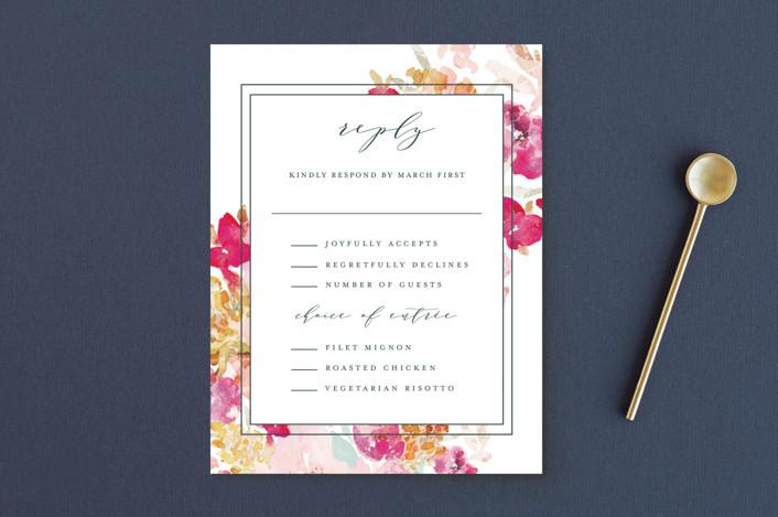 """""""Spring Garden"""" - Rsvp Postcards in Petal by Grace Kreinbrink."""