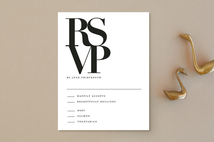 """The Minimalist"" - Rsvp Postcards in Pearl by Kelly Schmidt."