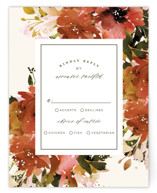 This is a red rsvp postcard by Lori Wemple called Eden printing on signature in postcard.