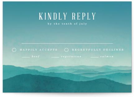Misty Mountain Range RSVP Postcards