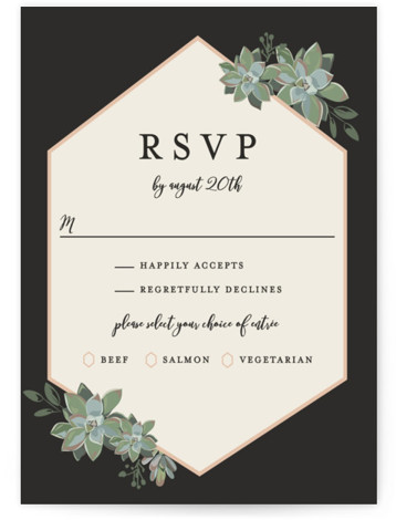 Succulent Surround RSVP Postcards