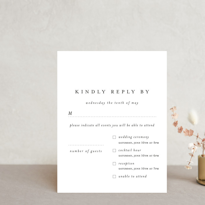 """""""A Thousand Years"""" - Multi-event Rsvp Cards in Classic White by Design Lotus."""