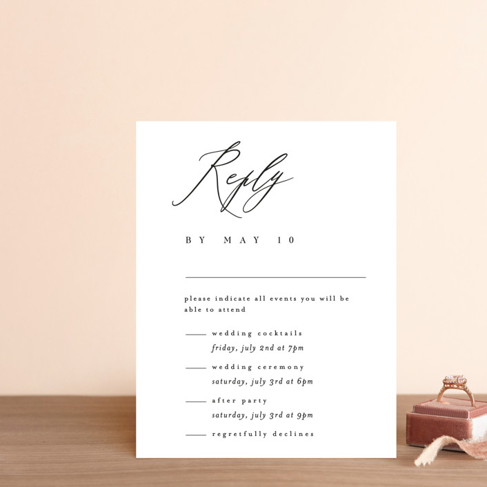 """""""Corison"""" - Multi-event Rsvp Cards in Classic by Kelly Schmidt."""