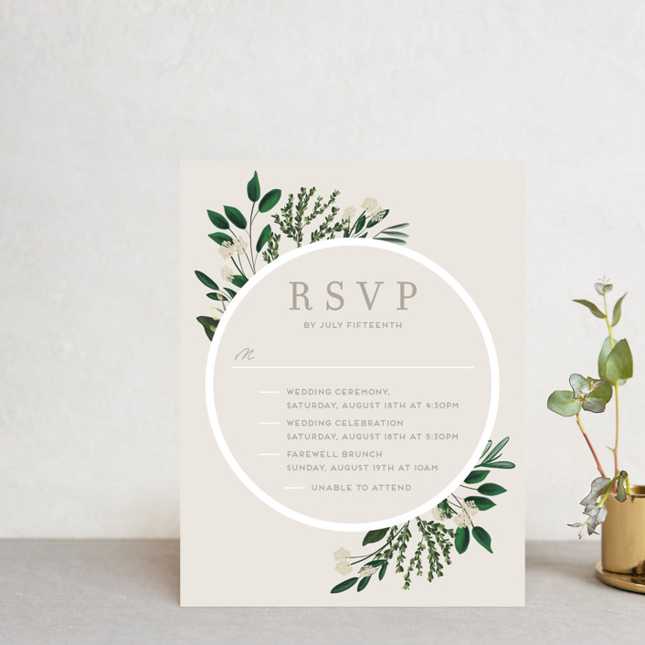 """Watermark"" - Multi-event Rsvp Cards in Cypress by Kaydi Bishop."