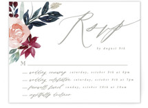 This is a red rsvp card by Creo Study called Garden Stroll with standard printing on signature in standard.