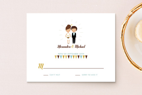 Cake Toppers RSVP Cards