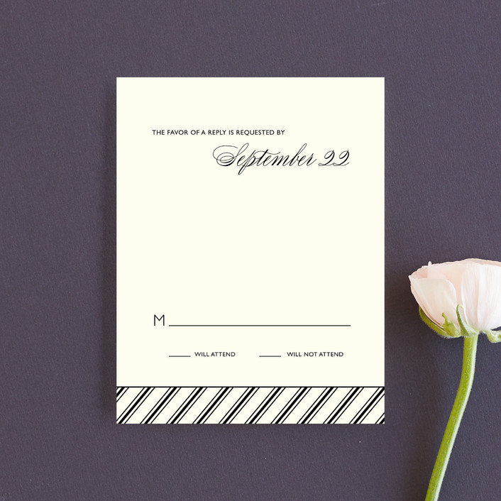 """Moments Captured"" - Modern Rsvp Cards in Ivory by Carrie Eckert."