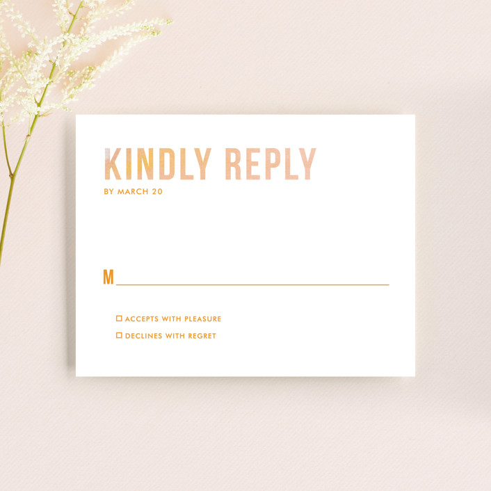 """""""Ombre"""" - Rsvp Cards in Mandarin by Dean Street."""