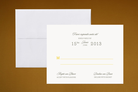 Traditional Tequila RSVP Cards