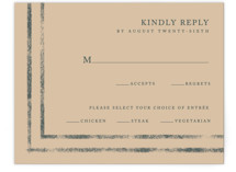 This is a green rsvp card by Something Noir called Simply Modern with standard printing on signature in standard.