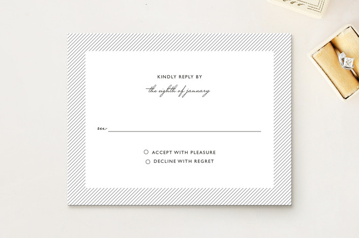 """Simply See Through"" - Modern Rsvp Cards in White by Lehan Veenker."