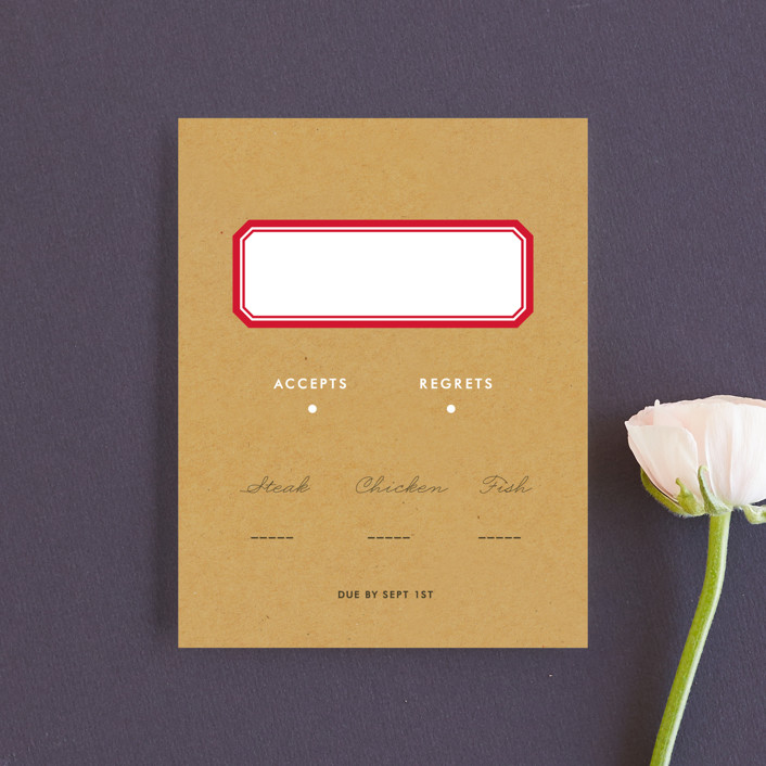 """Textbook Love Story"" - Whimsical & Funny Rsvp Cards in Kraft by root beer float."