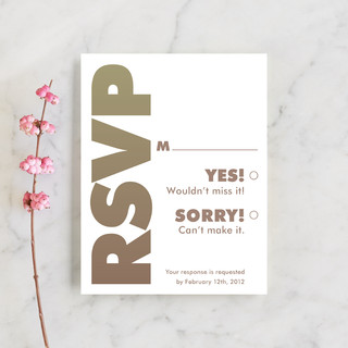 Charge Ahead RSVP Cards
