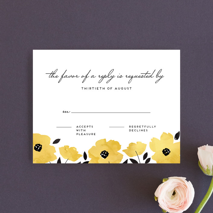 """Dark Romance"" - Rsvp Cards in Daisy by Petra Kern."