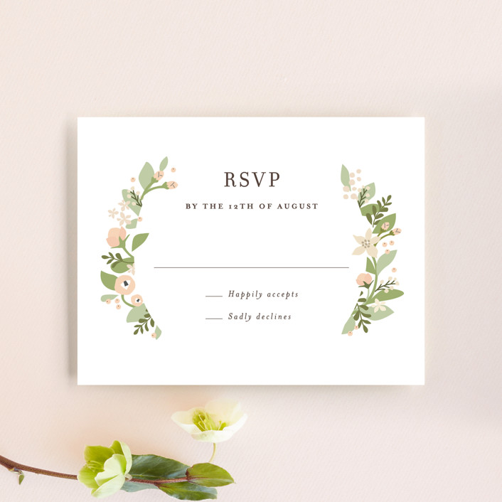 """Longwood Estates"" - Rsvp Cards in Peach Sorbet by Jennifer Wick."