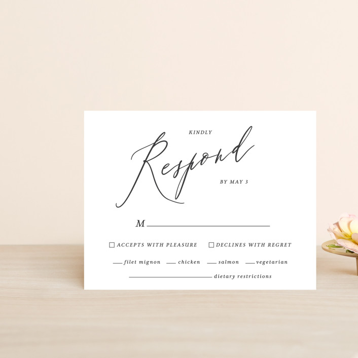 """""""Crescendo"""" - Rsvp Cards in Snow by Griffinbell Paper Co.."""