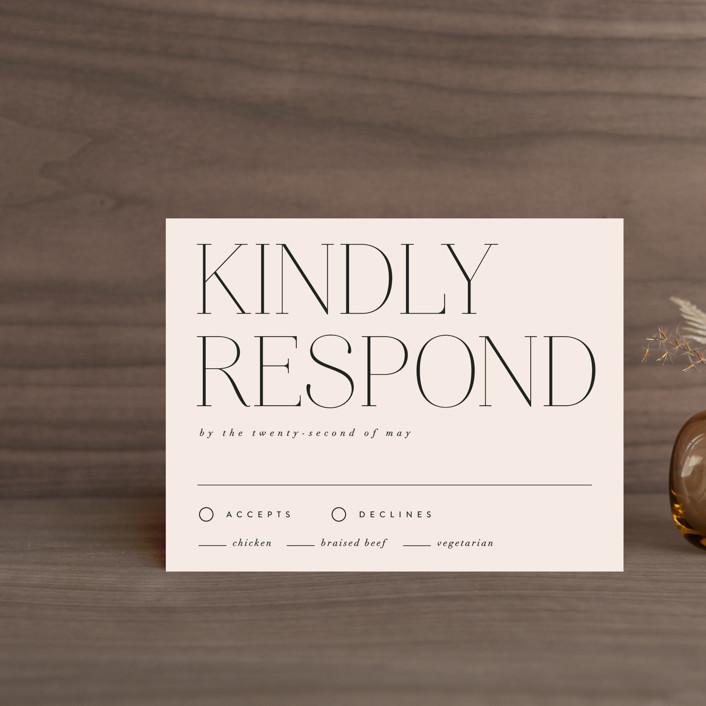 """Landscape"" - Rsvp Cards in Champagne by Kelly Schmidt."