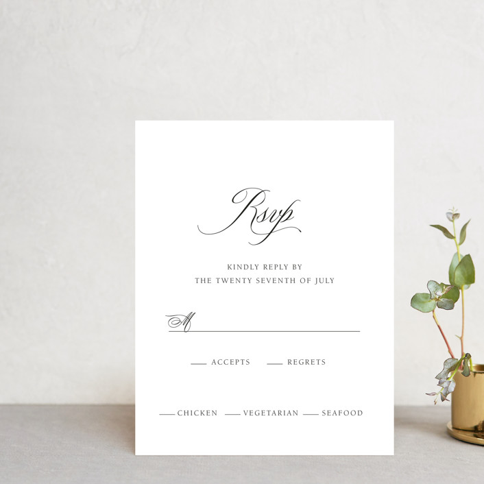 """Legacy"" - Rsvp Cards in Pure by Design Lotus."
