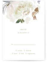 romantic bouquet RSVP Cards