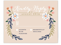 Wildflower Crest RSVP Cards