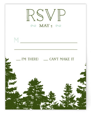 Mountain View RSVP Cards