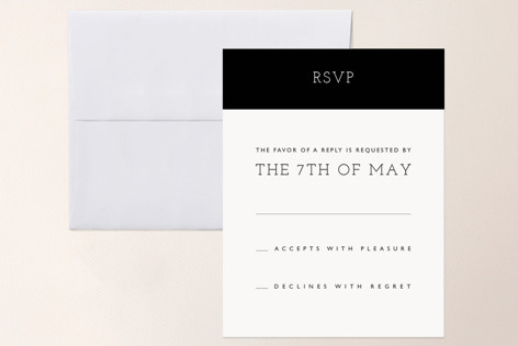 Hip To Be Square RSVP Cards